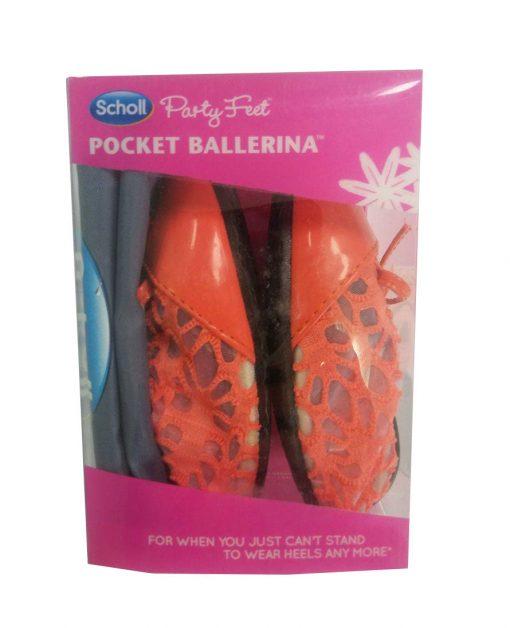 Balerini cu dantela Scholl Pocket Ballerina