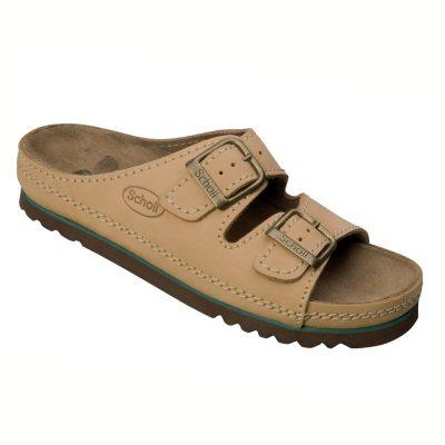 Papuci din piele cu talpa din pluta ortopedice Scholl Air Bag